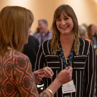 Two women at 2019 Annual Conference Networking